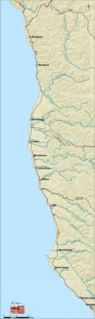 Point Arena-Stornetta Unit Of The California Coastal National - California Coastal Trail Map
