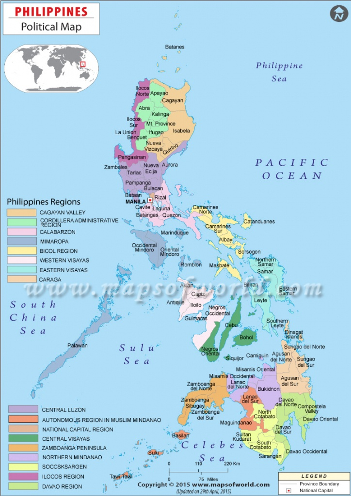 Political Map Of Philippines | Philippines Political Map - Printable Quezon Province Map