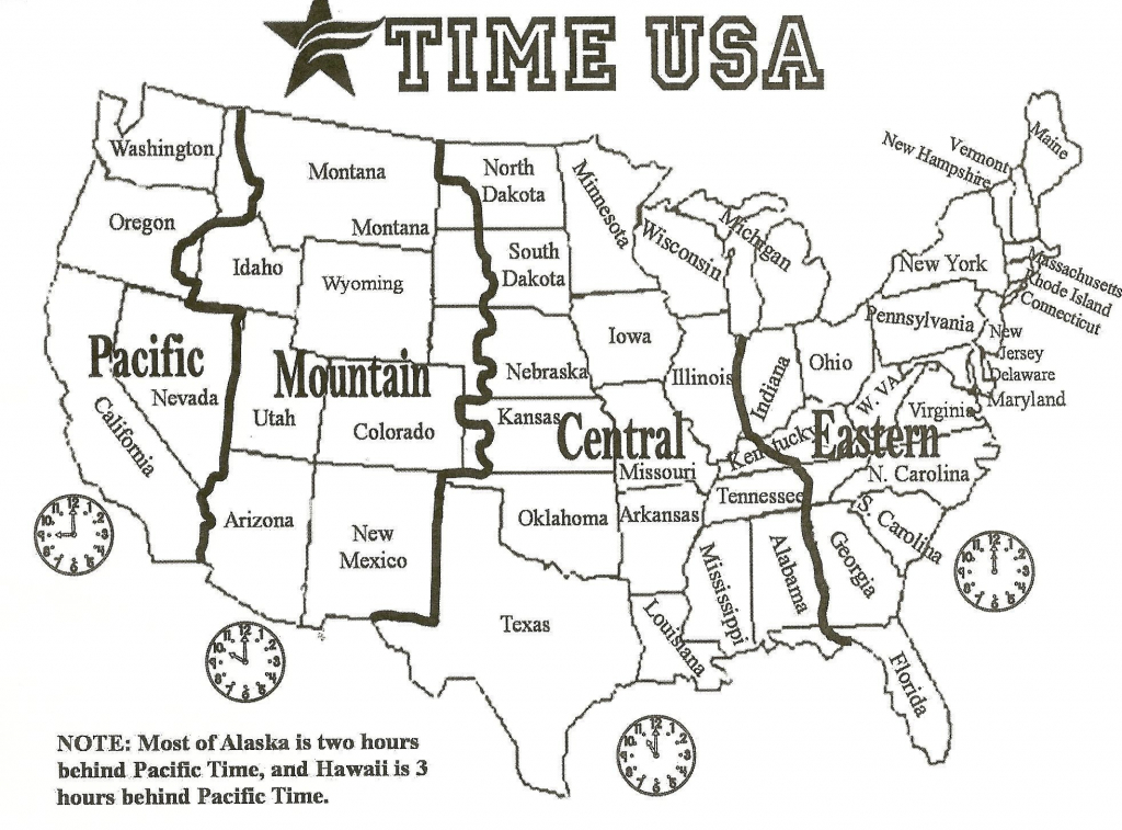 Political Map Of The Us 1964 1964 New Printable Map United States - Printable Us Timezone Map With State Names