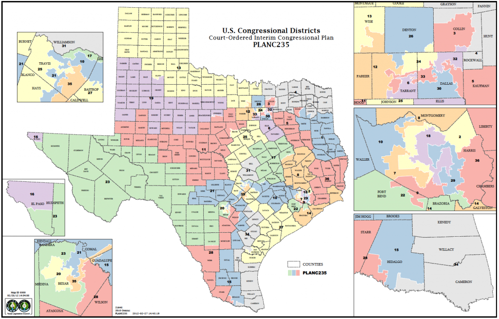 Political Participation: How Do We Choose Our Representatives - Texas Representatives District Map