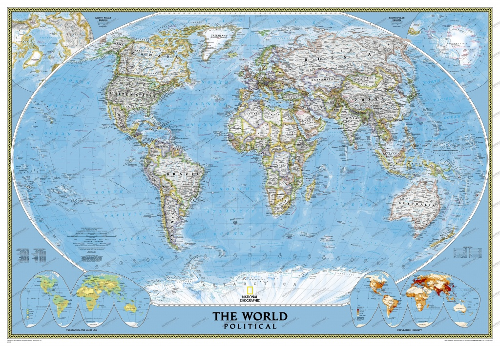 Political World Map (Large Size) - World Maps - National Geographic World Map Printable