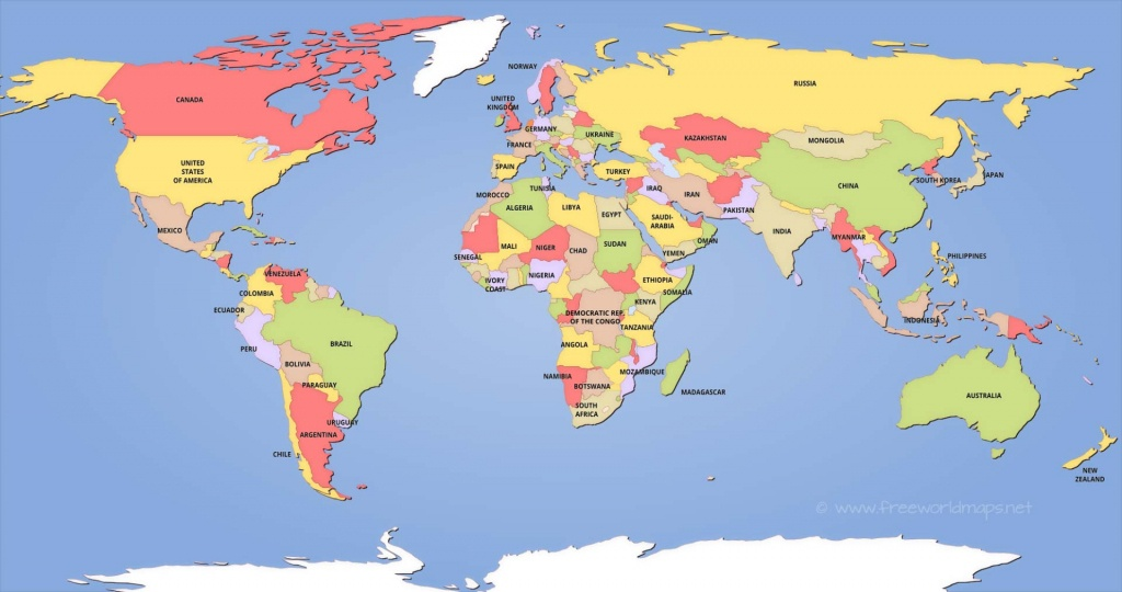 Political World Maps - Free Printable World Map For Kids With Countries