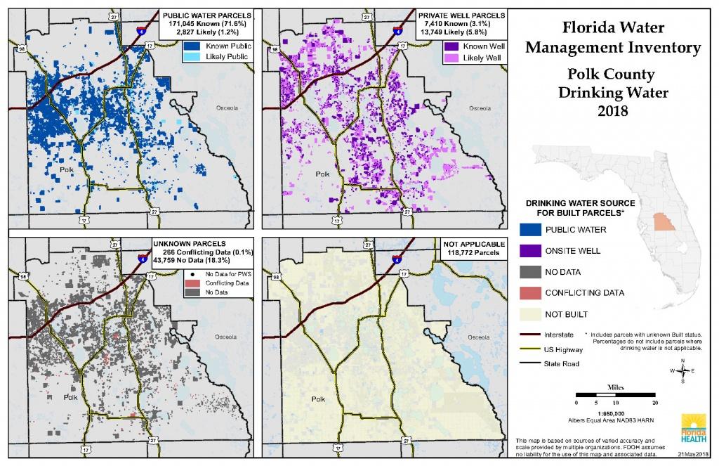 Polk Florida Water Management Inventory Summary   Florida Department - Polk County Florida Parcel Map