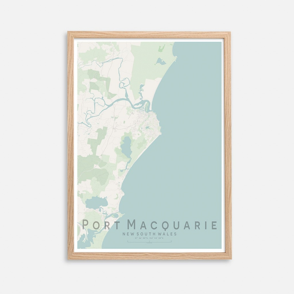 Port Macquarie Qld City Street Map Print Wall Art Poster | Etsy - Printable Street Map Of Port Macquarie