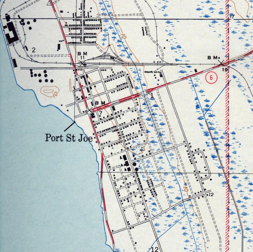 Port St. Joe, 1943 - St Joe Florida Map