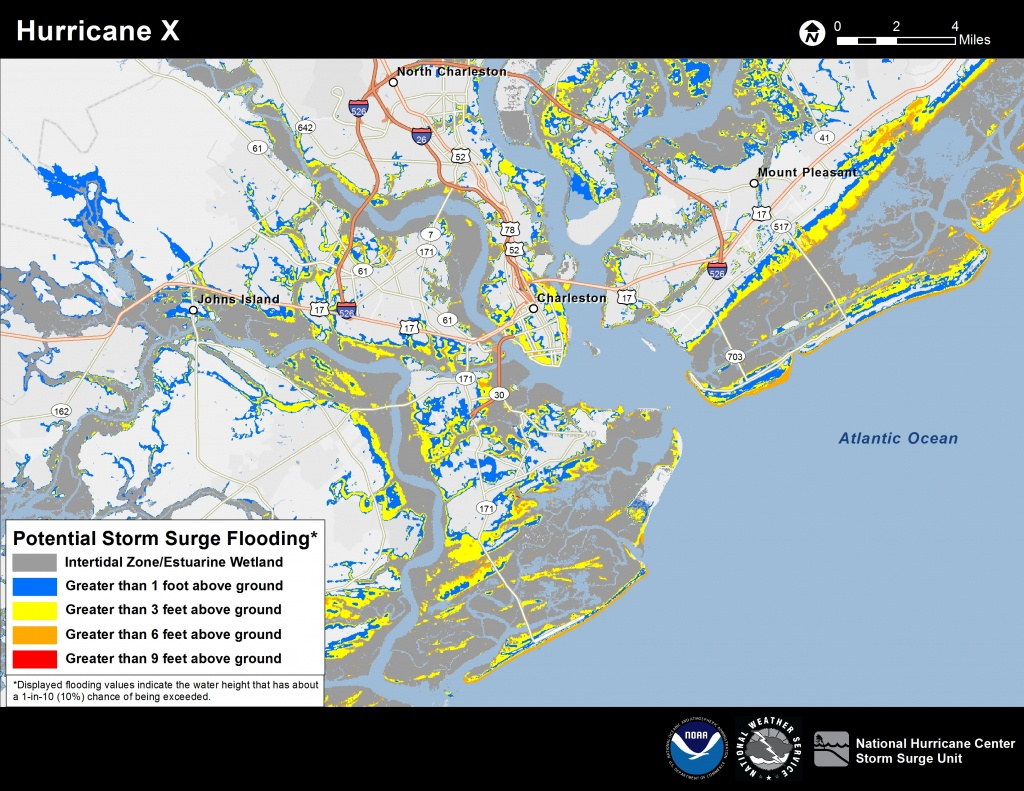 Potential Storm Surge Flooding Map - Interactive Elevation Map Of Florida