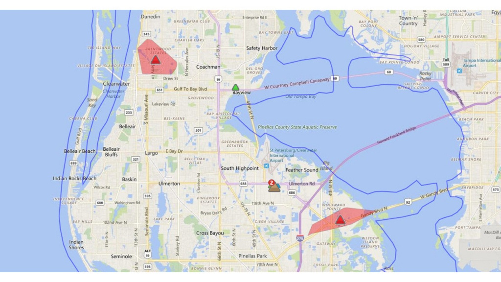 Power Restored To Most After Large Pinellas Outage - Duke Outage Map Florida