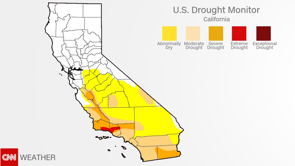 Powerful Storm Takes Aim At Southern California - Cnn - California Drought 2017 Map