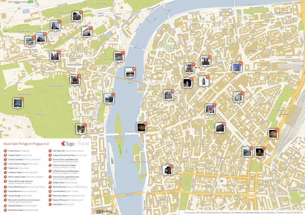 Prague Printable Tourist Map | Sygic Travel - Best Printable Maps