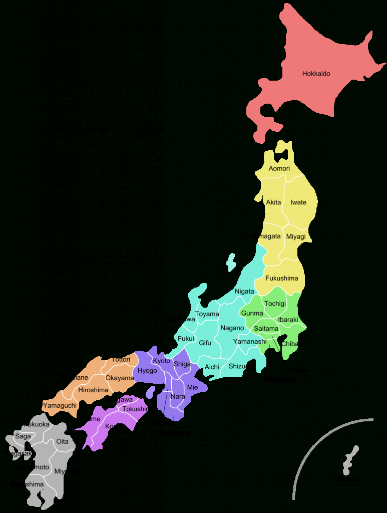Prefectures Of Japan - Wikipedia - Printable Map Of Japan With Cities