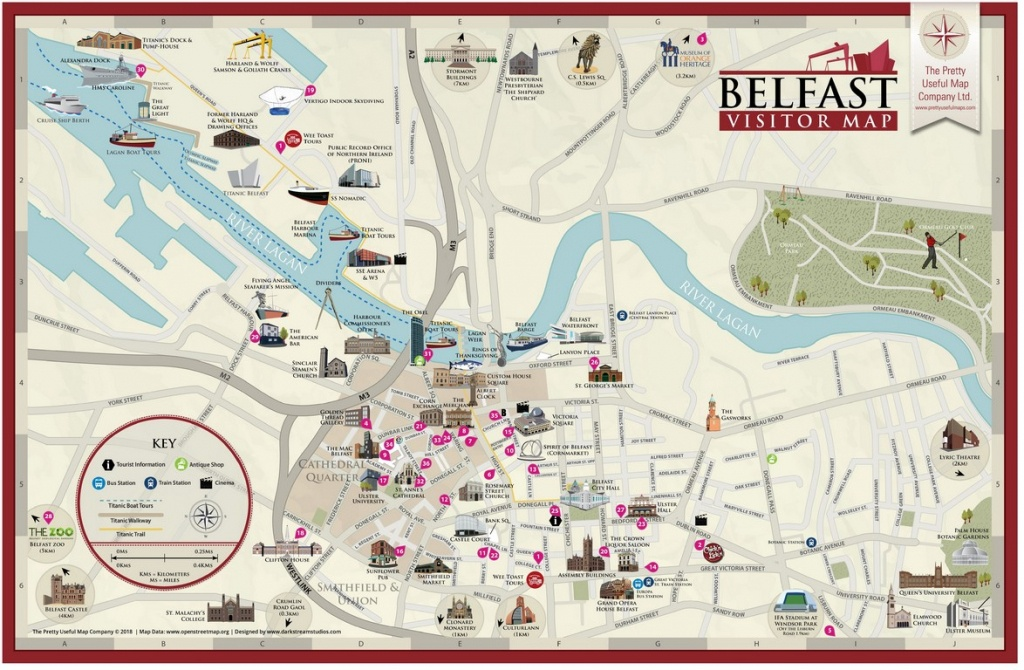 Pretty Useful Map Co. | Beautifully Illustrated Map Guides – Belfast Map - Belfast City Centre Map Printable