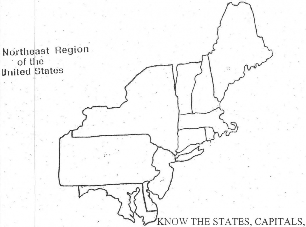 Print Northeast Map North East Usa - Berkshireregion - Printable Map Of The Northeast