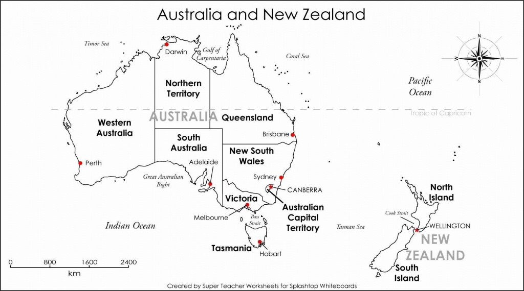 Printable Blank Map Australia Diagram Inside Of Noavg Me With States - Printable Map Of Australia With States