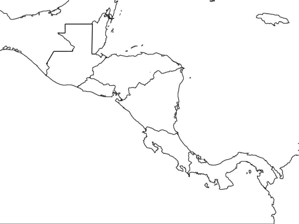 Printable Blank Map Of Central America Diagram New On Outline Free - Printable Blank Map Of Central America