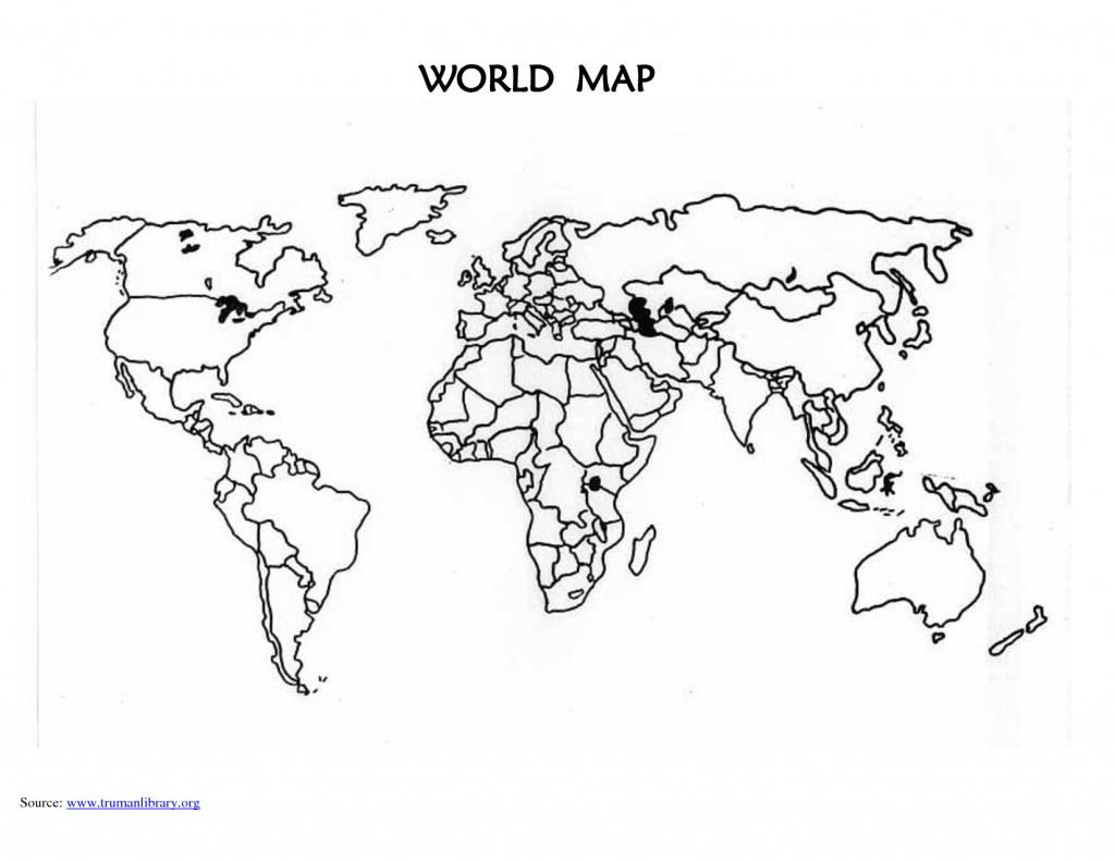 Printable Blank World Map Countries | Design Ideas | World Map - Printable Blank World Map With Countries