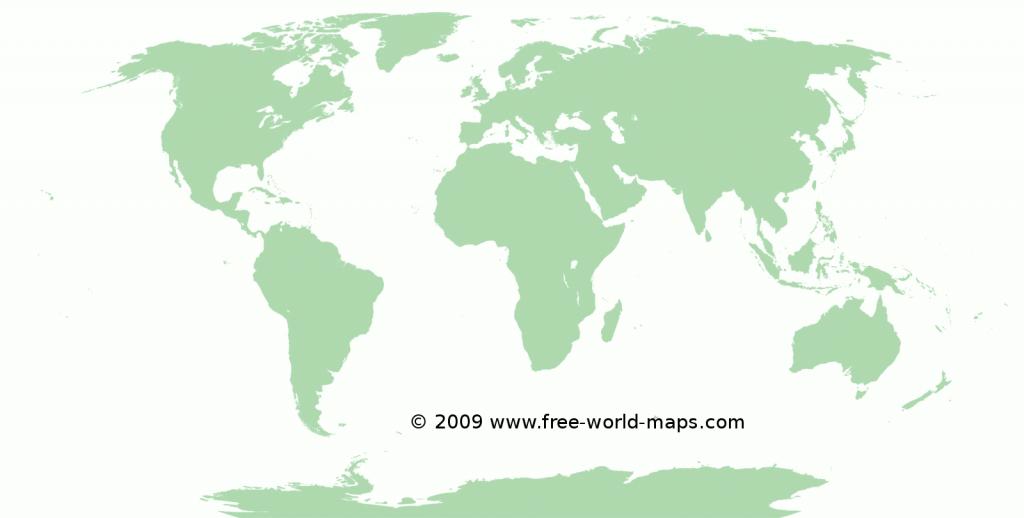 Printable Blank World Maps | Free World Maps - Large Printable World Map Outline