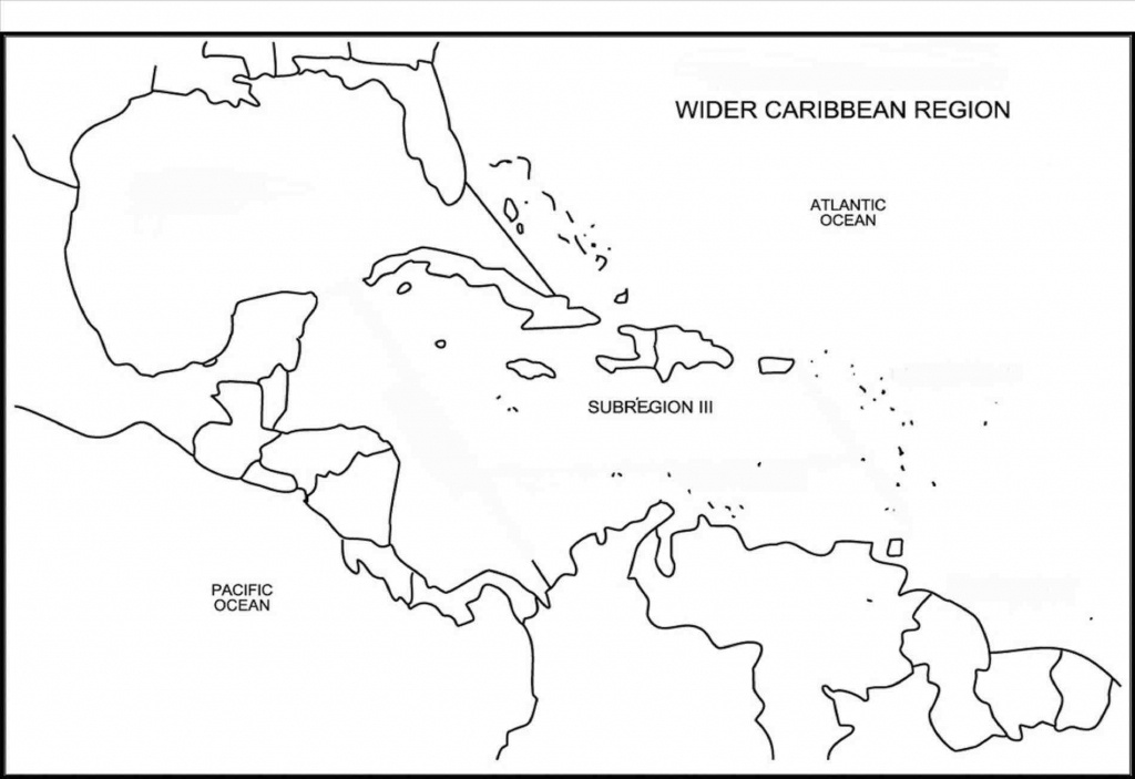 Printable Caribbean Islands Blank Map Diagram Of Central America And - Printable Map Of The Caribbean