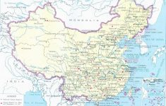 Printable Map Of China