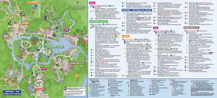 Printable Epcot Map 2017