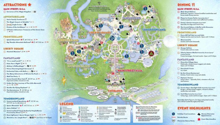 Printable Magic Kingdom Map 2017
