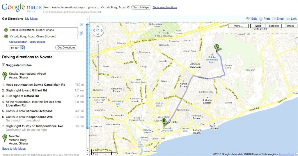 Printable Driving Maps - Hepsimaharet - Printable Driving Directions Google Maps