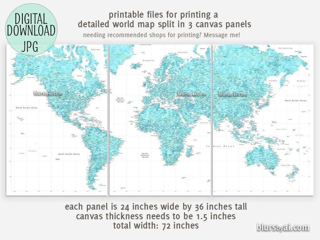 Printable Large World Map - Iloveuforever - Large Printable Map