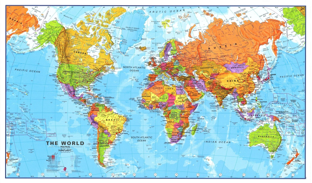 Printable Large World Map - Iloveuforever - Large Printable Maps