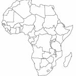 Printable Map Of Africa | Africa World Regional Blank Printable Map   Free Printable Map Of Africa