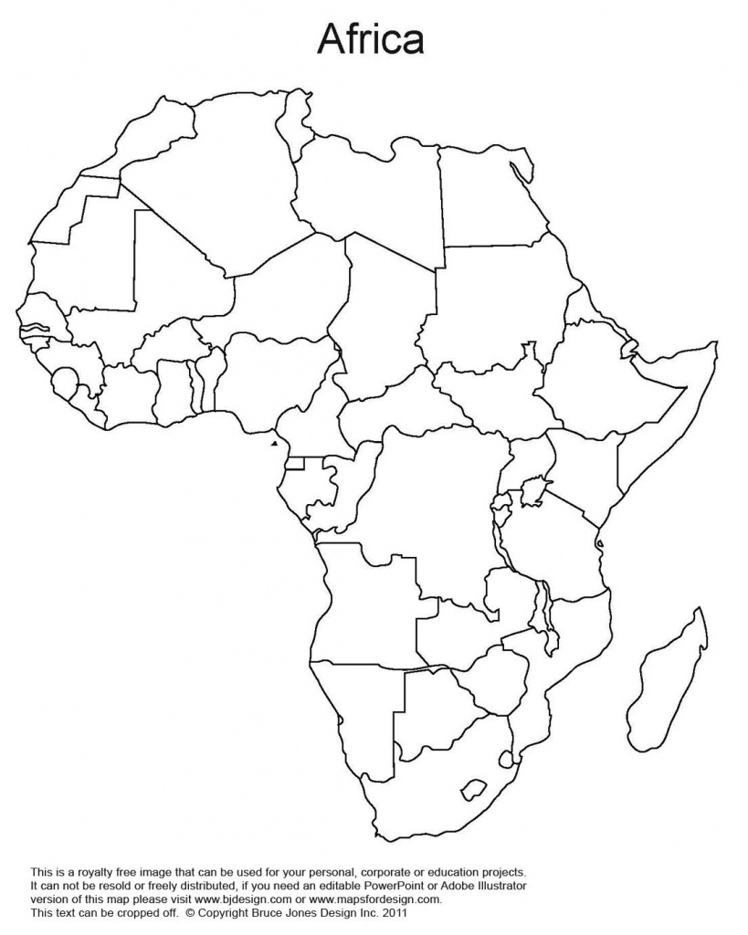 Printable Map Of Africa | Africa World Regional Blank Printable Map - Map Of Africa Printable Black And White