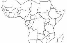 Printable Map Of Africa | Africa World Regional Blank Printable Map – Printable Map Of Africa With Countries Labeled