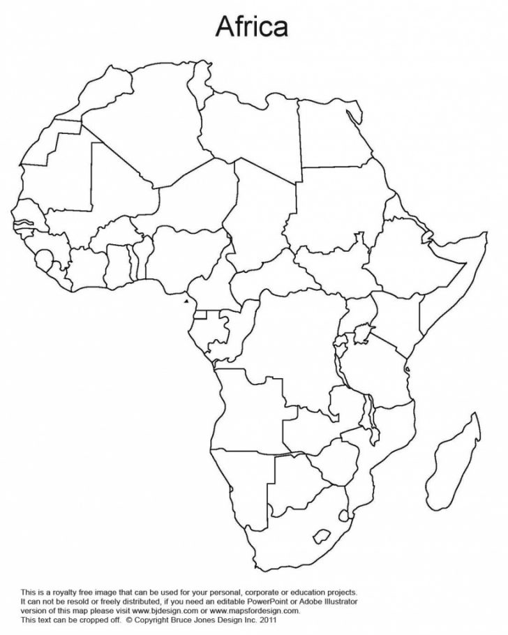 Printable Map Of Africa With Countries Labeled