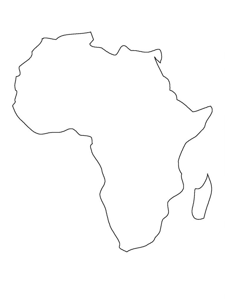 Printable Map Of Africa | Preschool | Africa Map, South Africa Map - Blank Outline Map Of Africa Printable