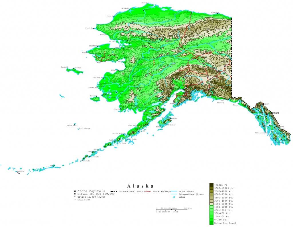 Printable Map Of Alaska And Travel Information   Download Free - Printable Map Of Alaska