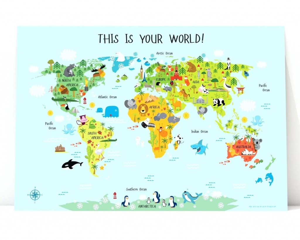 Printable Map Of Asia For Kids - World Wide Maps - Printable World Map For Kids