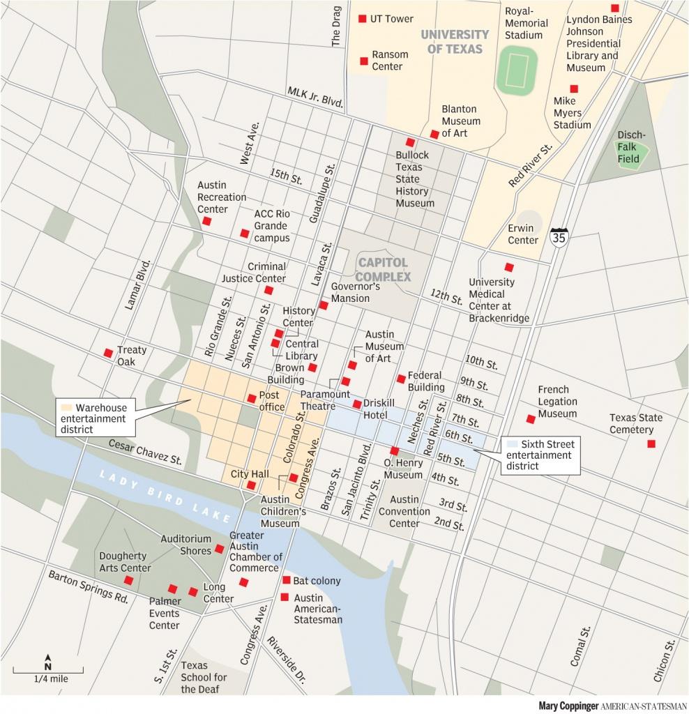 Printable Map Of Austin Texas And Surrounding Cities Neighborhoods - Austin Texas City Map