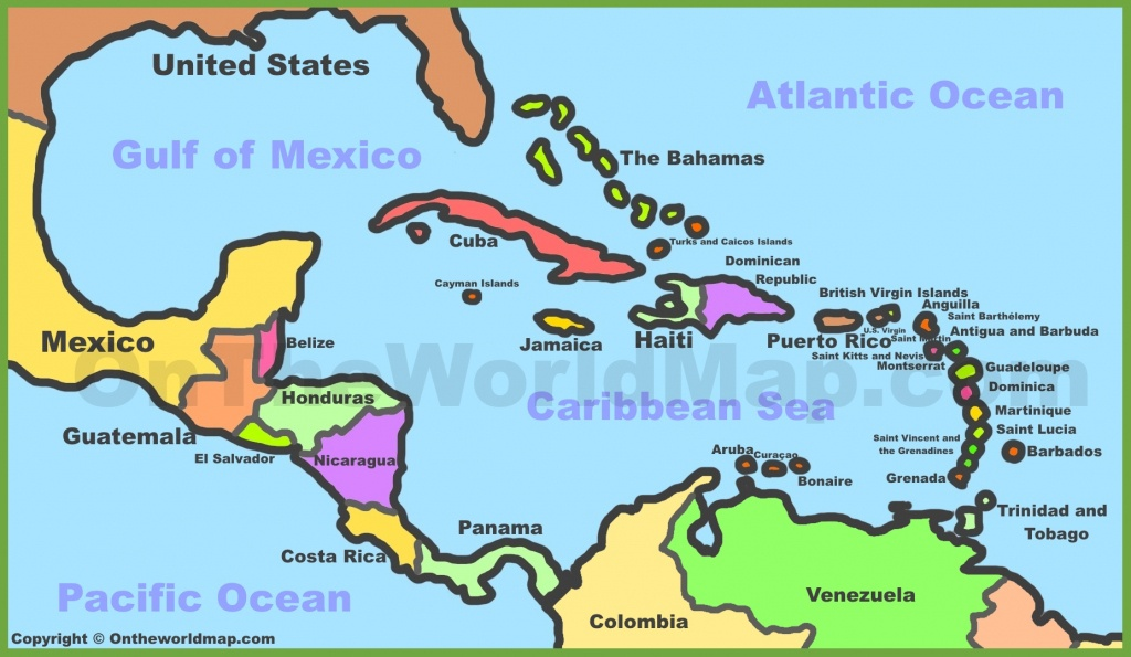 Printable Map Of Caribbean Islands And Travel Information | Download - Free Printable Map Of The Caribbean Islands