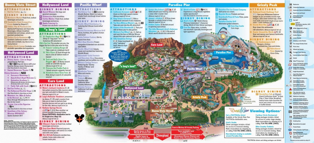 Printable Map Of Disneyland And California Adventure Disneyland - Printable Map Of Disneyland California