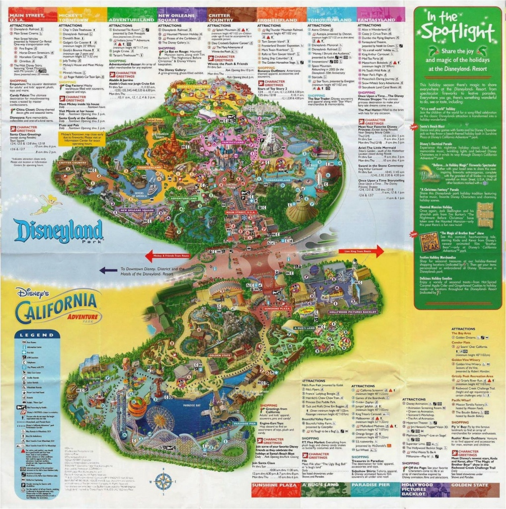 Printable Map Of Disneyland And California Adventure | Secretmuseum - Printable California Adventure Map