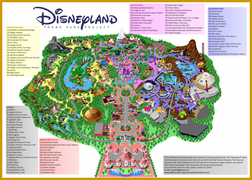 Printable Map Of Disneyland Paris Park Hotels And Surrounding Area Pdf - California Adventure Map 2017 Pdf