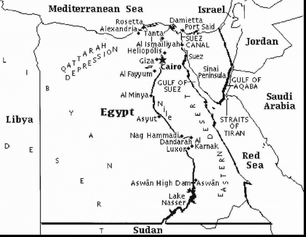 Printable Map Of Egypt And Travel Information   Download Free - Printable Map Of Egypt