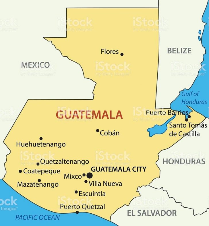 Printable Map Of Guatemala