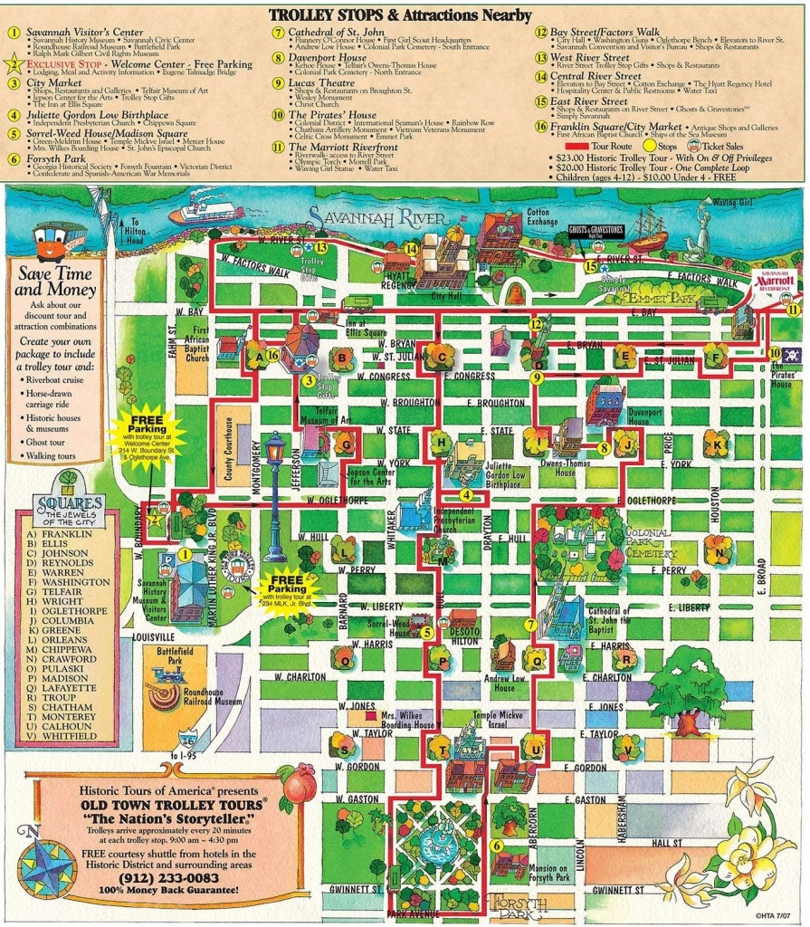 Printable Map Of Historic Savannah | Reasons Why Savannah Is The - Printable Map Of Savannah Ga Historic District