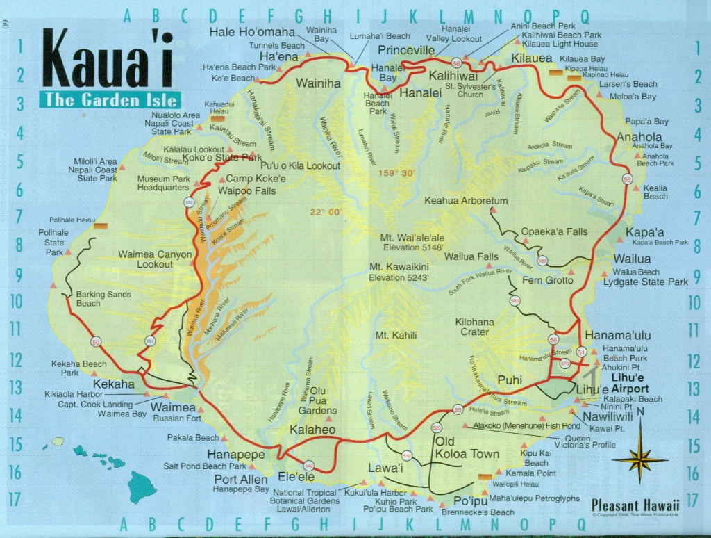 Printable Map Of Kauai (85+ Images In Collection) Page 1 - Printable Map Of Kauai