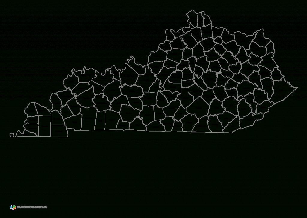 Printable Map Of Kentucky Counties And Travel Information | Download - Printable Map Of Kentucky Counties