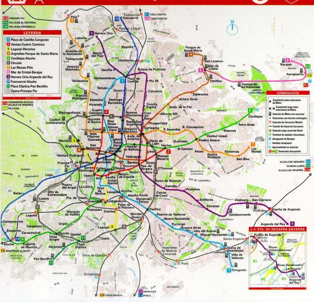 Printable Map Of Madrid   City Maps - Madrid City Map Printable