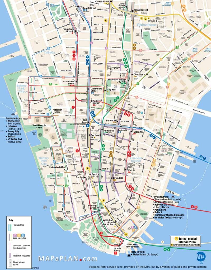 Printable Map Of Manhattan Ny   Travel Maps And Major Tourist - Printable Street Map Of Manhattan Nyc