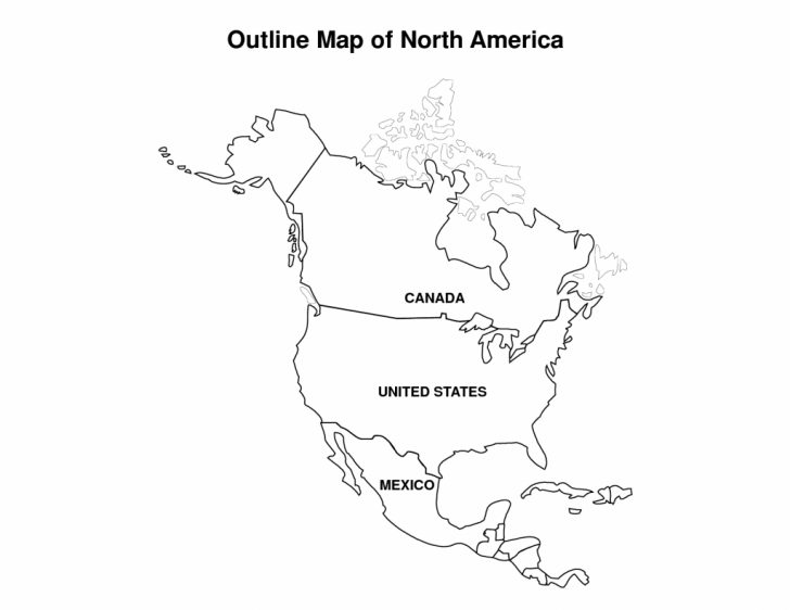 Free Printable Outline Map Of North America