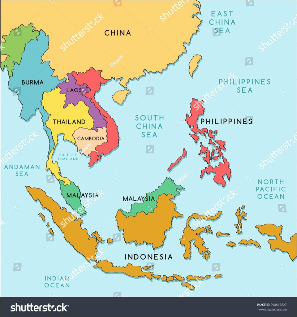 Printable Map Of South East Asia Recent Download And Southeast - Asia Political Map Printable