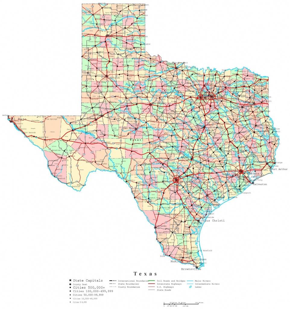 Printable Map Of Texas | Useful Info | Texas State Map, Printable - Free Texas State Map