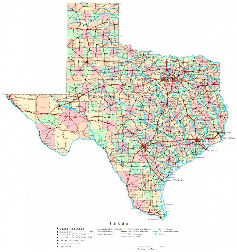 Printable Map Of Texas | Useful Info | Texas State Map, Printable - Texas Road Map Free